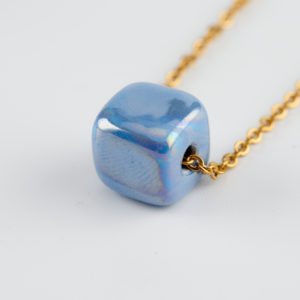 baby boo blue necklace gold