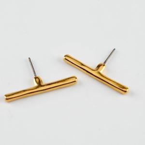 line up gold line earrings