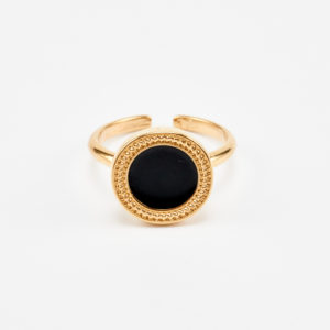 trail ring in gold and black