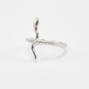 snake silver thin ring