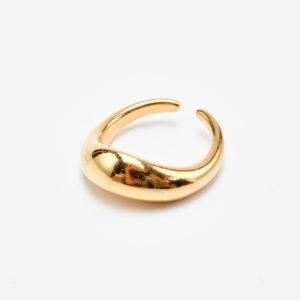 curvy gold ring plain