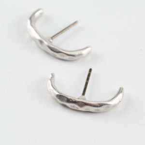 semi silver earrings mond jewels