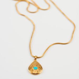gold flower necklace mond jewels