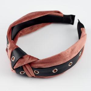 samon velvet pink headband by mond jewels