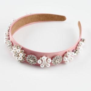 glam pink pearls headband by mond jewels