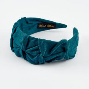 Marin blue green suede headband by mond jewels