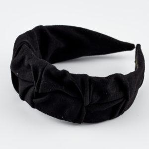knight black suede headband by mond jewels