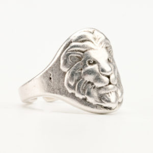 Ανδρικό δαχτυλίδι κεφαλή λιονταριού