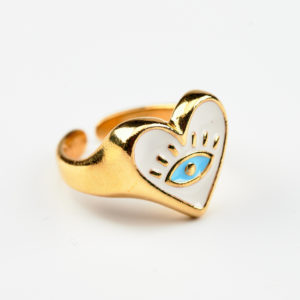 Επίχρυσο δαχτυλίδι γυναικείο μάτι