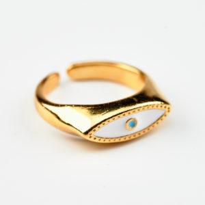 Δαχτυλίδι επίχρυσο μάτι