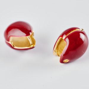 Μπορντώ σκουλαρίκια με σμάλτο